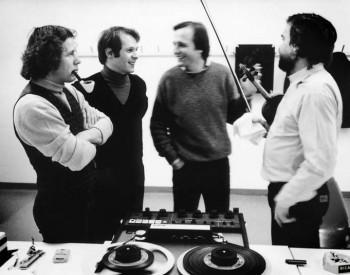 Christian Favre, séance d'enregistrement - Philippe Stiner, Mischa Mersson, Jean-Paul Jourdan
