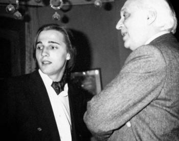 Christian Favre et le compositeur Constantin Regamey