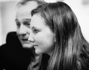 Christian Favre avec son élève Aurore Grosclaude - 2014