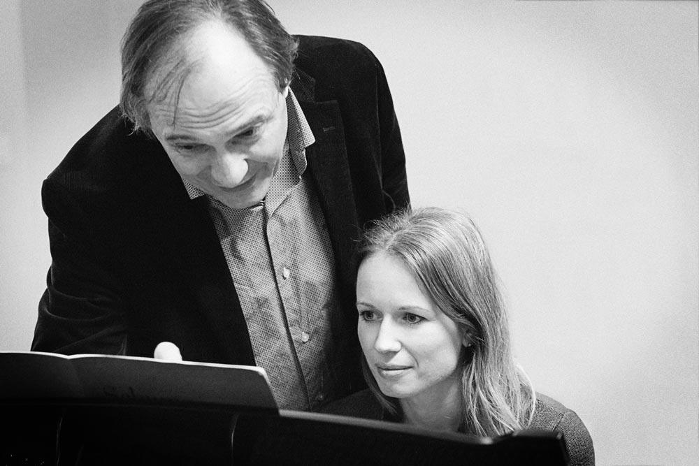 Christian Favre avec son élève Kristina Kosmina – 2014