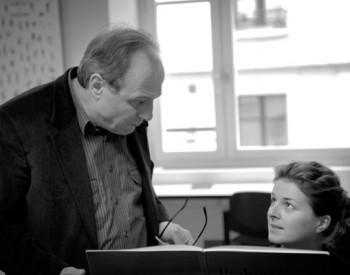 Christian Favre avec son élève Anaïs Hirschler - 2014
