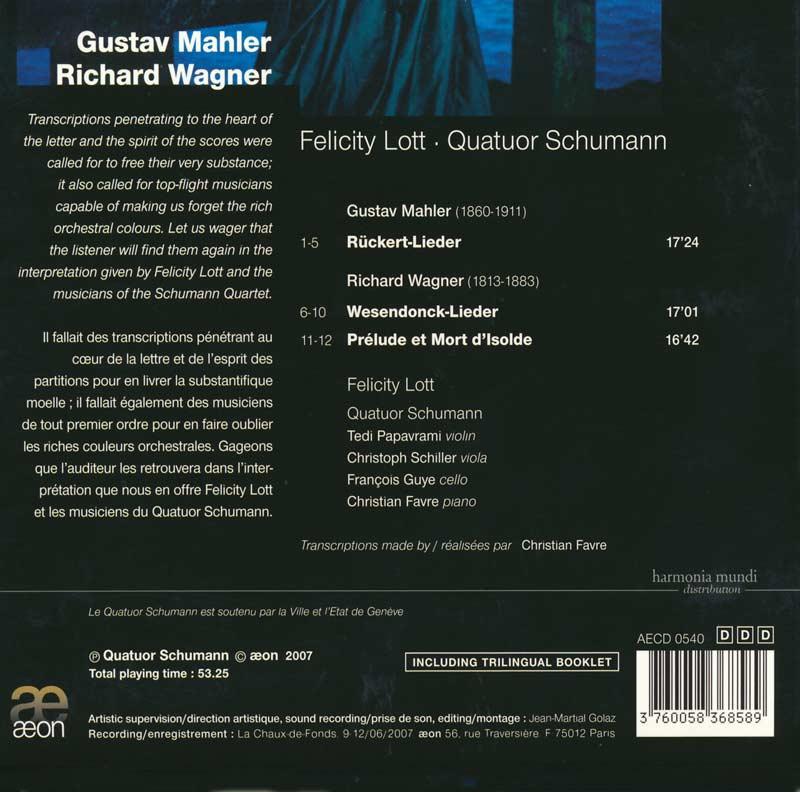 AECD 0858 Quatuor schumann