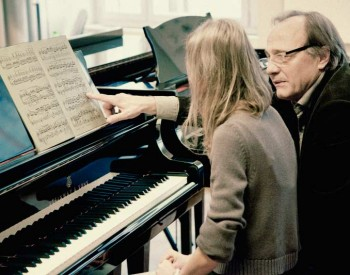 Christian Favre avec son élève Kristina Kosmina - 2014