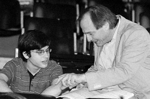 Christian Favre avec Jean-Selim Abdelmoula