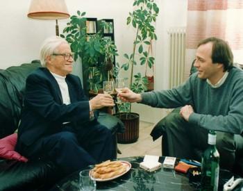 L'Abbé Pierre Kaelin et Christian Favre