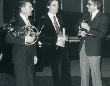 Christian Favre avec Joszeph Molnar et Jean Jaquerod
