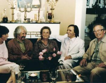 Christian Favre avec Jean-Pierre Moeckli, Juliette Bise et le peintre Yoki